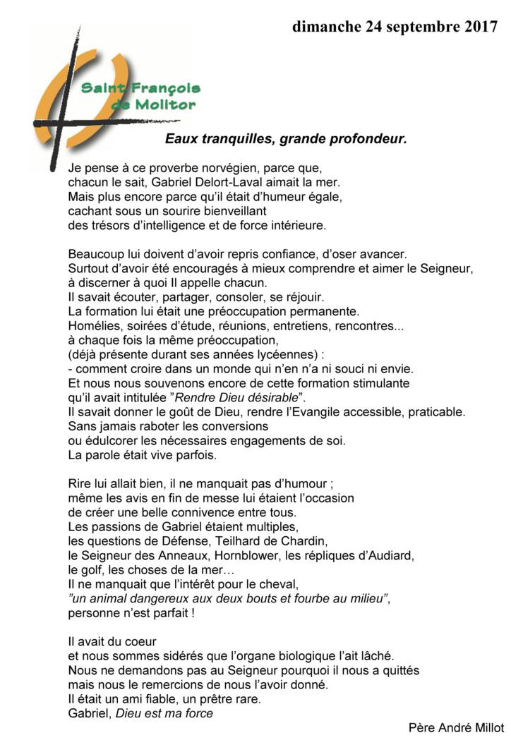 Hommage a l'abbé Gabriel Delort Laval