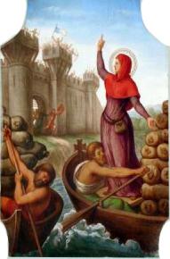 Sainte Geneviève ravitaillant les Parisiens