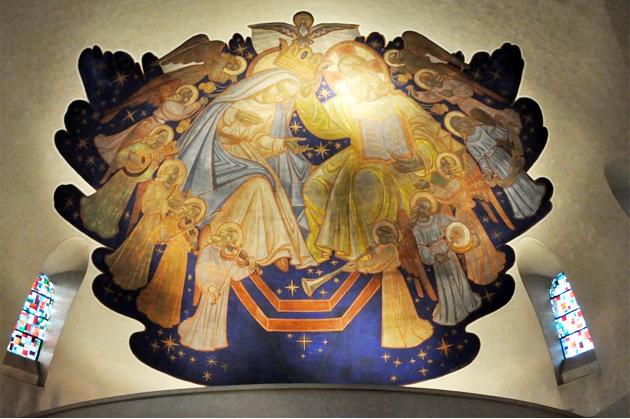 La fresque de la chapelle du Saint-Sacrement