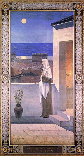 Sainte Geneviève veillant  sur Paris - Puvis de Chavannes - Panthéon