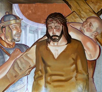 Le Chemin de Croix dans l'église
