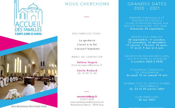 Accueil des Familles à Sainte-Jeanne-de-Chantal